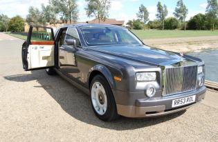 rolls royce phantom wedding and executive car hire leicester